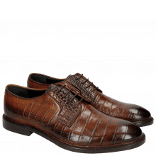Derby Schuhe Matthew 1 Croco Wood HRS