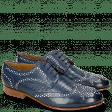 Derby Schuhe Sally 53 Perfo Marine