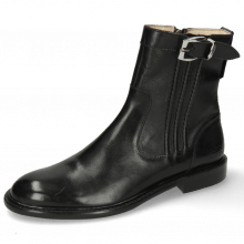 Stiefeletten Sally 85 Black French Nappa Black Strap Sword