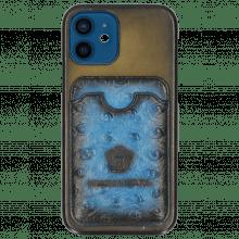 iPhone Hülle Twelve Vegas Olive Wallet Mid Blue