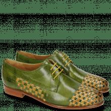 Derby Schuhe Selina 14 Ultra Green Interlaced Sol