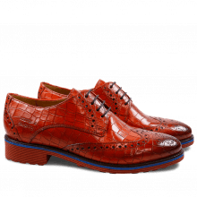 Derby Schuhe Amelie 3 Crock Orange Rook D Red EVA Blue