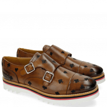 Monk Schuhe Esther 1 Tan Embrodery Poker