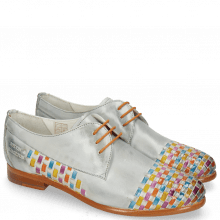 Derby Schuhe Selina 14 Vegas Clear Water Interlaced Multi