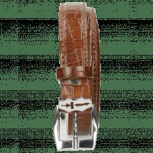 Gürtel Linda 1 Crock Mid Brown Sword Buckle