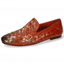 Loafers Mandy 1 Interlace Scale Weave Orange