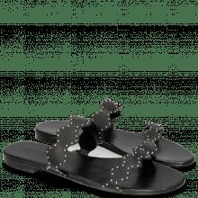 Pantoletten Hanna 45 Salerno Black LS Black