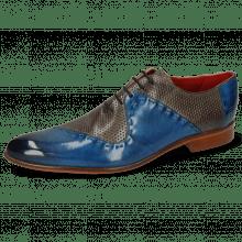Oxford Schuhe Toni 18 Mid Blue Perfo Grigio Lining