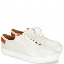 Sneakers Harvey 15 Nappa White Vegas Orange Tongue Patch
