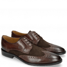 Derby Schuhe Victor 2 Rio Mogano Suede Pattini Brown