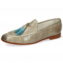 Loafers Scarlett 3 Vegas Turtle Light Grey Tassel Turquoise