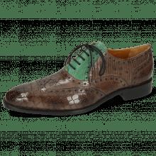 Oxford Schuhe Jeff 28 Crock Stone Dice Electric Green