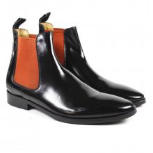 Stiefeletten Daniel 7 Brush Black Elastic Orange RS