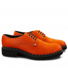 Derby Schuhe Sissy 1 Orange Rivets Nickel