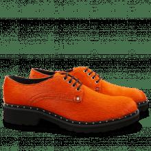 Derby Schuhe Sissy 1 Orange Rivets Nickel