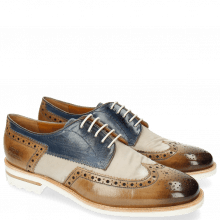 Derby Schuhe Johnny 1 Tex Funky Visone 60 Moroccan Blue