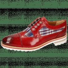 Derby Schuhe Tom 22 Ruby Textile Check Multi