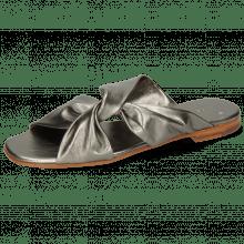 Pantoletten Elodie 35 Talca Aluminium Footbed