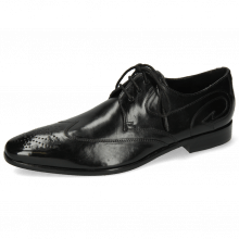 Derby Schuhe Elvis 63 Black Tassel Black