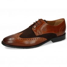 Derby Schuhe Victor 2 Rio Mid Brown Suede Pattini Dark Brown