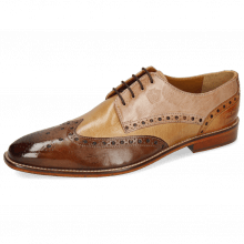 Derby Schuhe Martin 15 Berlin Mid Brown Sand Make Up Cognac