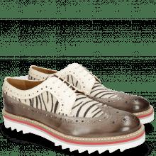 Derby Schuhe Trevor 10  Vegas Stone Hairon Young Zebra