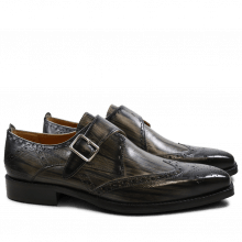 Monk Schuhe Nicolas 2 Grey Shade & Lines Black HRS