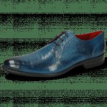 Derby Schuhe Toni 1 Baby Croco Mid Blue