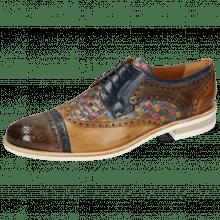 Derby Schuhe Henry 7 Stone Marine Sabbia Woven Multi