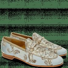 Loafers Scarlett 1 Textile Victoria Silk Trim Gold