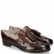 Loafers Clint 6 Crock Mid Brown Tassel