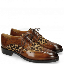 Derby Schuhe Betty 3 Wood Hairon Leo