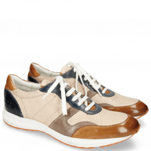 Sneakers Blair 11 Glove Nappa Tan Perfo Ivory Stone Navy