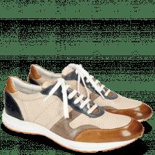 Sneakers Blair 11 Glove Nappa Tan Perfo Ivory Stone Navy