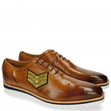 Oxford Schuhe Jeff 26 Tan Patch Rank Patch Stars