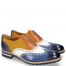 Oxford Schuhe Tom 26 Midnight Vegas White Electric Orange