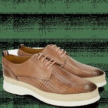 Derby Schuhe Regine 1 Perfo Square Rose