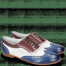 Oxford Schuhe Sonia 1 Midnight Nappa White Burgundy