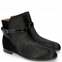 Stiefeletten Susan 13 Hair On Black Patent Strap