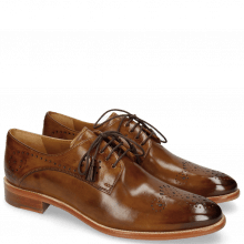Derby Schuhe Betty 2 Nougat Tassel Dark Brown