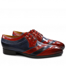 Derby Schuhe Ricky 8 Crust Red Navy LS Natural