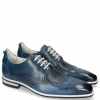 Derby Schuhe Dave 2 Tough Vegas Nappa Navy Glove Perfo