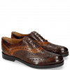 Oxford Schuhe Amelie 10 Turtle Mid Brown Python