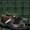 Derby Schuhe Eddy 25 Crock Black Suede Pattini Black