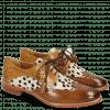 Derby Schuhe Betty 3 Wood Hairon Wildcat Sand