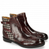 Stiefeletten Amelie 11 Turtle Mokka Hairon Tweed Black White