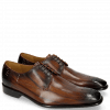 Derby Schuhe Albert 1 Wood Rivets Lines Dark Brown