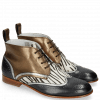 Stiefeletten Sally 30 Vegas London Fog Nappa Aztek Bronze Hairon Young Zebra
