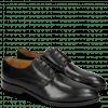 Derby Schuhe Jessy 5 Black Lining Rich Tan