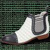Stiefeletten Jessy 55 Nappa Glove Deep Navy Perfo White